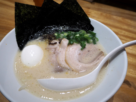 gastronome: pork ramen japanese noodle with egg