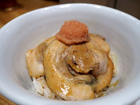 Japanese rice with pork, deliciouse, Japan Stock Photo