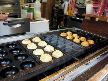 Grote Takoyaki voedsel van Japan, Yufuin