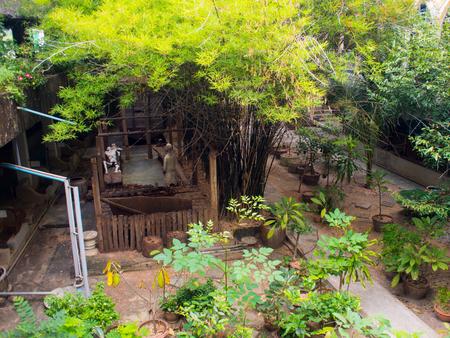 kanchanaburi: the World War 2 Museum at the River Kwai in Kanchanaburi, Thailand Editorial