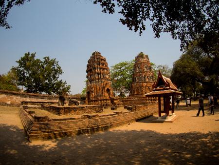 phra nakhon si ayutthaya: Wat Mahathat Temple , Ayutthaya, Thailand Stock Photo