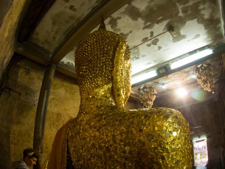 Behind the Buddha : Wat Bang Kung at Amphawa, Thailand Stock Photo