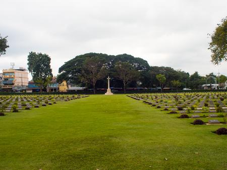 kanchanaburi allied war cemetary, Thailand