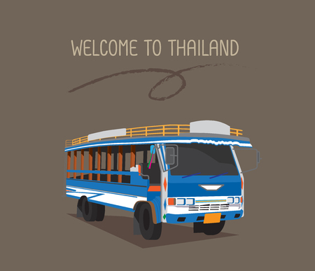 A public bus or wood Taxi in Phuket.