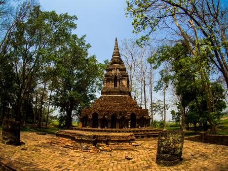 Wat Pa Sak, 'The Teak Forest Monastery' Tempel in Chiang Saen, Chiang Rai, Thailand Stockfoto