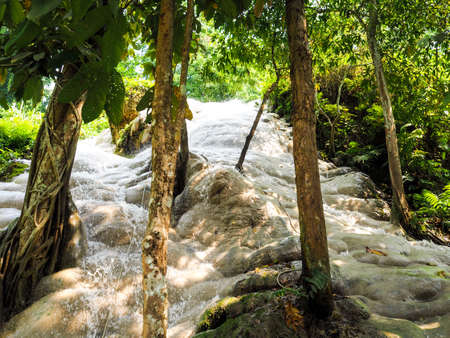 Truly magic sticky waterfalls close to Chiang Mai in north Thailand.