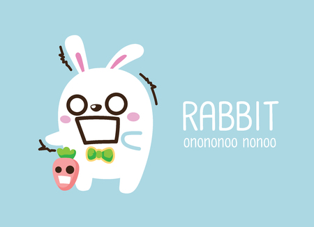 rabbit. Cute Animal vector illustration