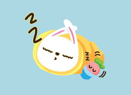 rabbit. Cute Animal vector illustration