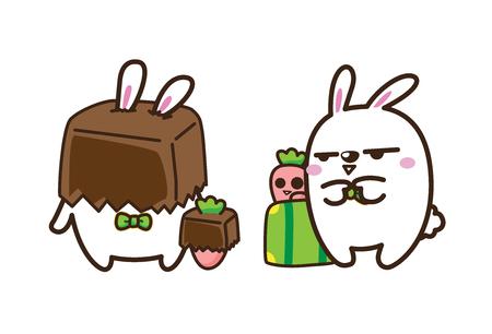 vector illustration of rabbit on white background Illustration