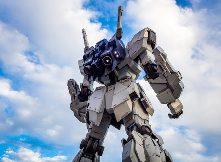 ODAIBA,TOKYO,JAPAN - Sep 2018 : The real size model of Gundam robot in Odaiba City.