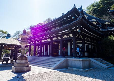 Hase-dera Temple. popular Buddhist temple in Kamakura, Japan - Sep, 2018. Standard-Bild - 120301363