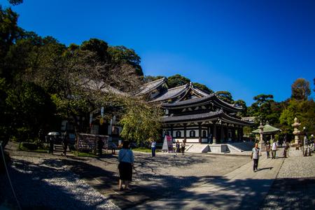 Kannon-do or Main hall of Hase-dera Temple. Kamakura, Japan - Sep, 2018. Standard-Bild - 120301366