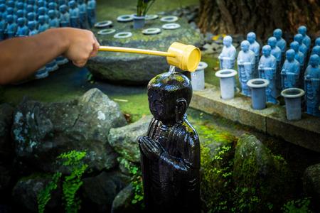 Jizo chibi, the guardian of children of Hase-dera Temple. Kamakura, Japan - Sep, 2018. Standard-Bild - 120301368