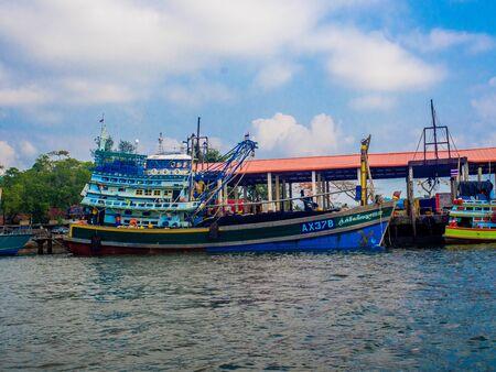 Khura Buri Pier to the islands in Khura Buri District, Phang-nga, Thailand : March 2019 報道画像