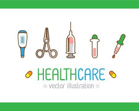 Healthcare Medical Hospital Medicine, Healthcare concept. Creative design for layouts : vector illustration