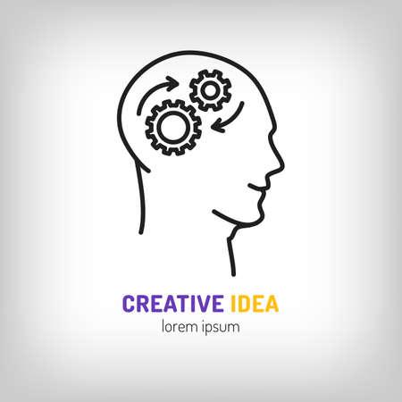 mental object: marketing business, Brainstorm, Brainwave, Creative idea