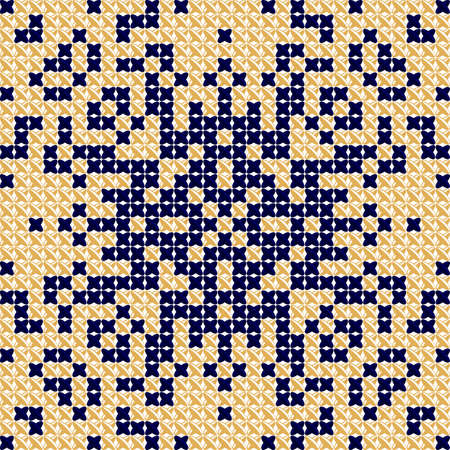 chequered drapery: Cross stitch pattern, embroidery pattern, textile and tapestry background. Tablecloth texture. Antique, Scandinavian style. Vector Illustration designed for pillows, tablecloths, bedspreads Illustration