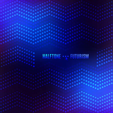 halftone cover: Dot background for banners, poster, cover, flyers, presentations, web. Futuristic technology style halftone. Vector light neon backgrounds, place in the text Illustration