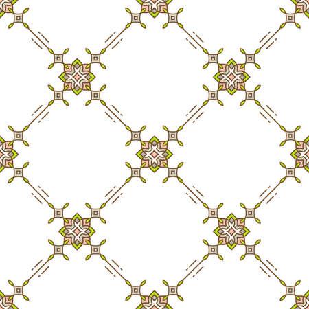 ligne Thin seamless. Résumé ornement floral géométrique. motif textile doux sur un fond blanc. Decorative minimale conception de vecteur texture, motif losange
