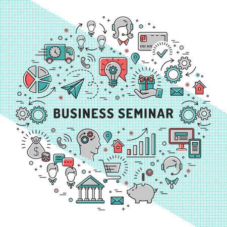 Vector Business Seminar Design Templates, Shopping, E-commerce ...