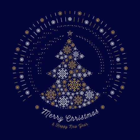 Merry christmas card christmas tree and mono line art sun bursts merry christmas card christmas tree and mono line art sun bursts or bursting rays reheart Images