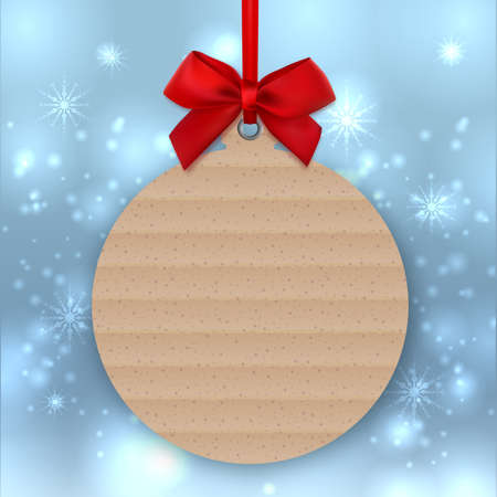 Christmas tree decoration, Trendy Greeting card template.