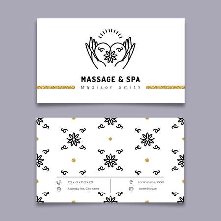 Vector massage and spa therapy business card template trendy vector massage and spa therapy business card template trendy royalty free cliparts vectors and stock illustration image 69457855 friedricerecipe Images