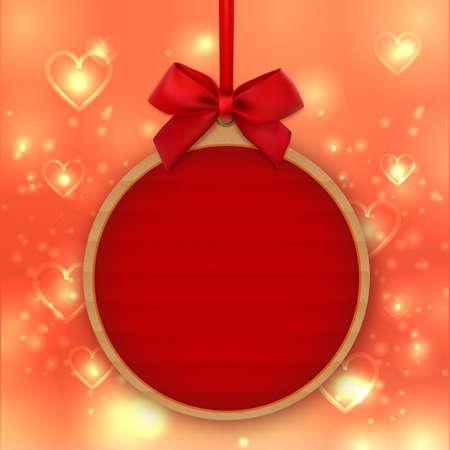 Valentines Day decoration, sticker, tag, label, mockup templates, love banner