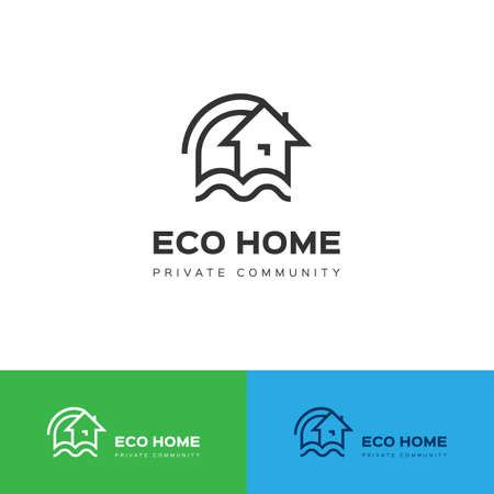 Eco house icon. Illustration