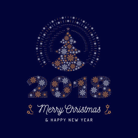 Christmas card and new year 2018 poster christmas tree and number christmas card and new year 2018 poster christmas tree and number royalty free cliparts vectors and stock illustration image 90851549 reheart Images