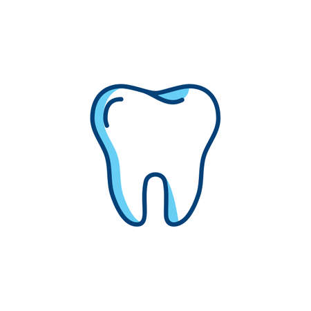 Tooth icon. Dentist colorful logo, Dental care or Dental clinic line icon. Vector illustration