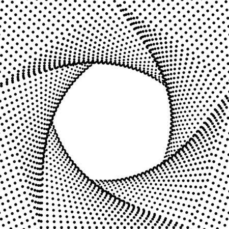 Abstract pentagon background, Halftone black fractal geometric frame, Futuristic technology 3D style. Vector illustration