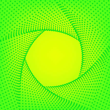 Green yellow gradient background. Abstract geometric pattern, Futuristic technology 3D frame. Business card bright green backdrop, Vector illustration Eps10