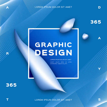 Geometric abstract Blue background, Gradient fluid shapes Liquid background. Trendy graphic design poster. Vector illustration Eps10