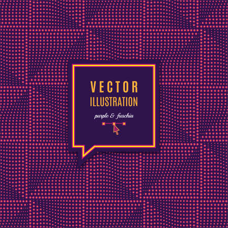 Geometric frame with light effects, Futuristic square seamless pattern. Geometric abstract purple background for poster, flyer, web page, mobile app ui design. Vector Eps10