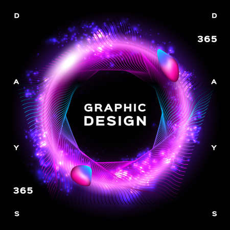 Glowing background abstract, Space background Futuristic Planet. Abstract liquid trendy shapes. Vector illustration Eps10