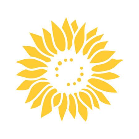 Sunflower icon, Sunflower for cutting, Flower Vector illustration Vektorové ilustrace