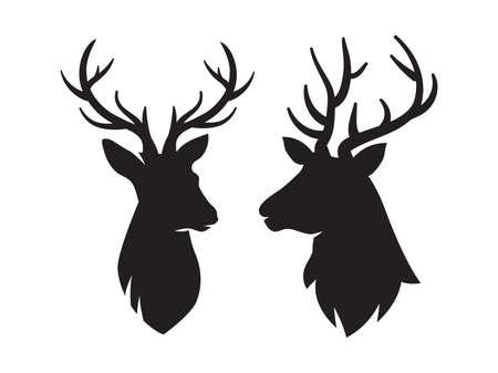 Deer head isolated icons, Deer head silhouette, Vector illustration Векторная Иллюстрация