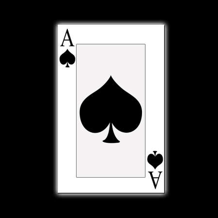 ace of spades: Ace of spades Stock Photo