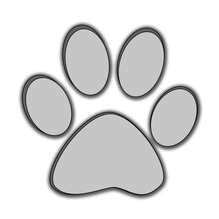 bear paw: Paw print