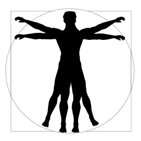 existence: Vitruvian Man Stock Photo