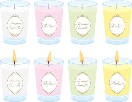 Aromatherapy candles illustration