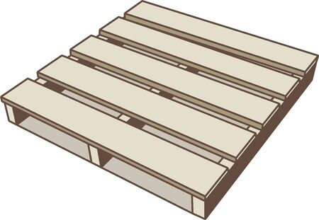 Illustration of a wooden pallet