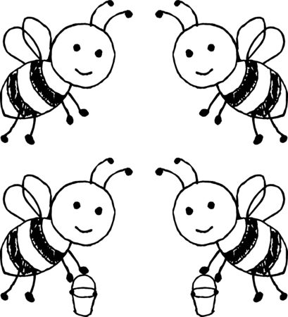 Illustration of cute bee vector
