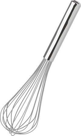 Illustration of a single whisk vector