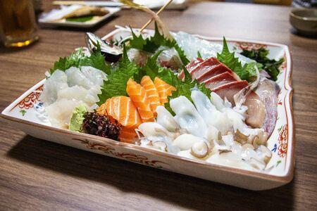 Japanese food  Sashimi platter Reklamní fotografie
