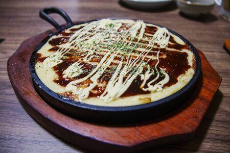 Japanese food  yam teppanyaki