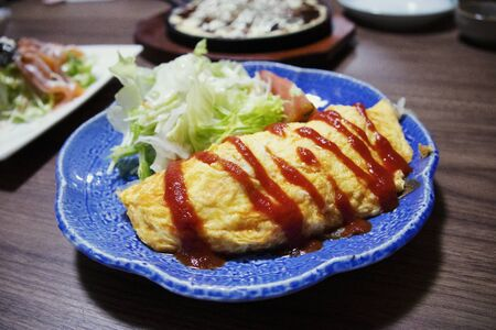 Omelette in a Japanese pub