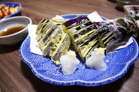 Japanese food  eggplant tempura