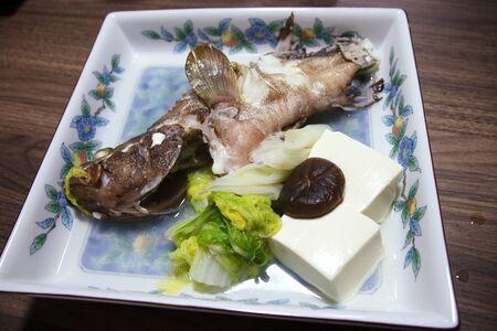 Japanese food  Boiled fish Reklamní fotografie